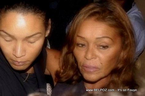 PHOTO: Haiti - Michele Bennett et Michelle Ania Duvalier -  Veillee Funebre Jean Claude Duvalier