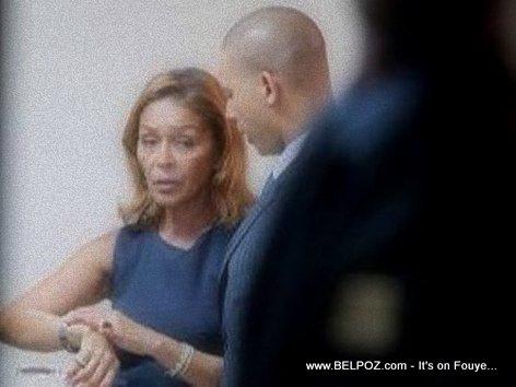 PHOTO: Haiti - Michele Bennett et Francois Nicolas Duvalier -  Veillée Funèbre Jean Claude Duvalier