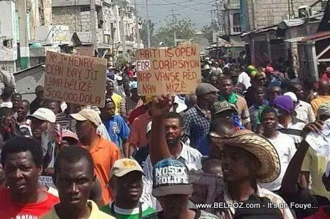 PHOTO: Manifestation in Haiti - 17 October 2014