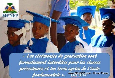 Haiti Education - Ceremonies de graduation interdites excepte en philo