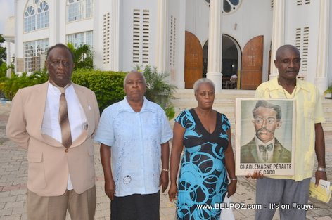 PHOTO: Hinche Haiti - Family Members of leader Charlemagne Peralte gather to commemorate his death, 31 October 2014