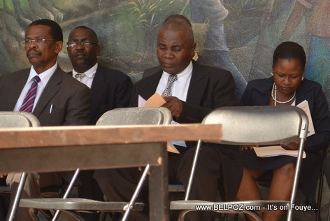 Hinche Haiti - Authorities gather for the Anniversary of the death of Charlemagne Peralte, 31 Oct 2014