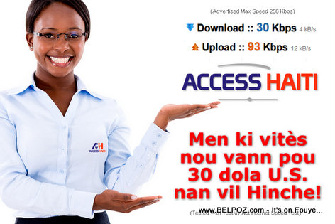Haiti Internet Access - DSL Speed Test - Access Haiti Basic Package will make you PULL your Hair...