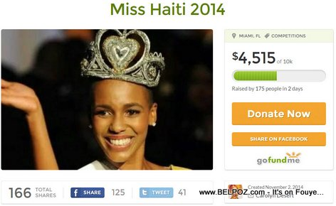 Miss Haiti Carolyn Desert Raises $4,515 Online in Two Days