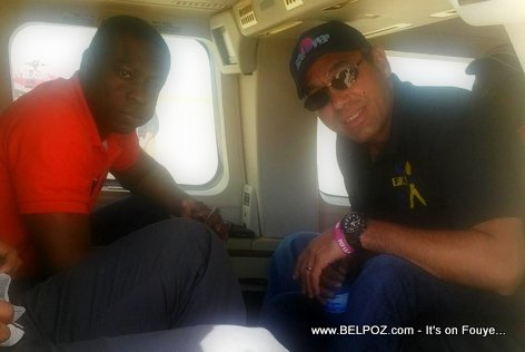 PHOTO: Haitian Goverment officials on a Helicopter bound for Cap Haitien
