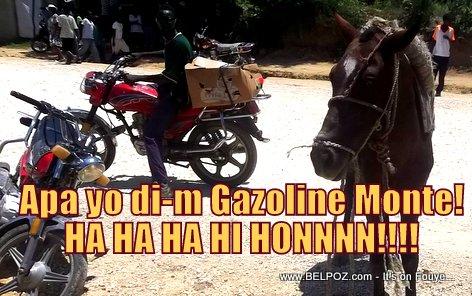PHOTO: Haiti - Pri Gazoline Monte, Sa pa regarde kelke moun nan peyi a...
