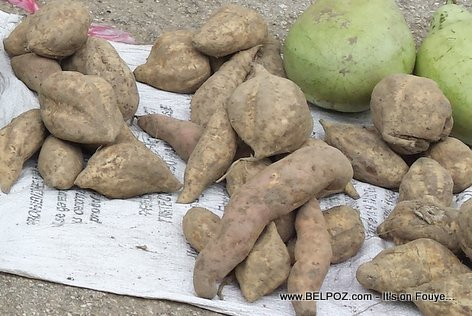 PHOTO: Haiti - Lo Patat - How sweet potato is sold in street markets