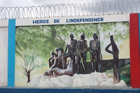 PHOTO: Haiti - Heros de l'Independence - Haiti DR Border wall - Carisal - Elias Pina