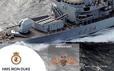Royal Navy warship HMS Iron Duke Pays Visit To Haiti