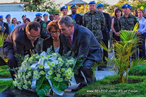 PHOTO: Haiti Earthquake - MINUSTAH remembers 102 Fallen 5 Years Later
