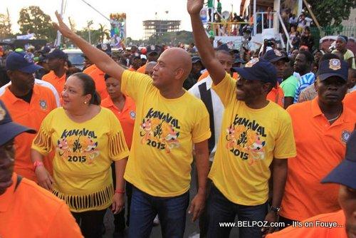 PHOTO: Haiti Kanaval 2015 - President Martelly, PM KP, Sophia Martelly nan parcours Kanaval la