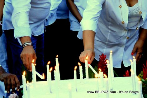 PHOTO: Candles lit for the victims of the Champs-de-Mars Kanaval incident