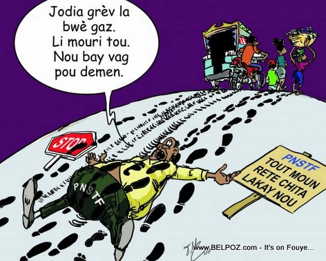 PHOTO: Haiti Caricature - Greve Gazoline la bwe gaz