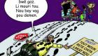 PHOTO: Haiti Caricature - Grève Gazoline la bwè gaz