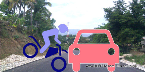 Haiti Accident - Car Motorcycle