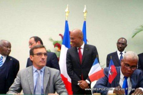 PHOTO: Haiti - Electricite De France fek siyen yon Accord ak Electricite d'Haiti (EDH)